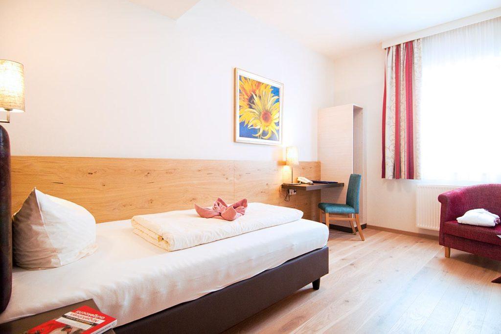 Einzelzimmer im Hotel Zentral, Zauchensee