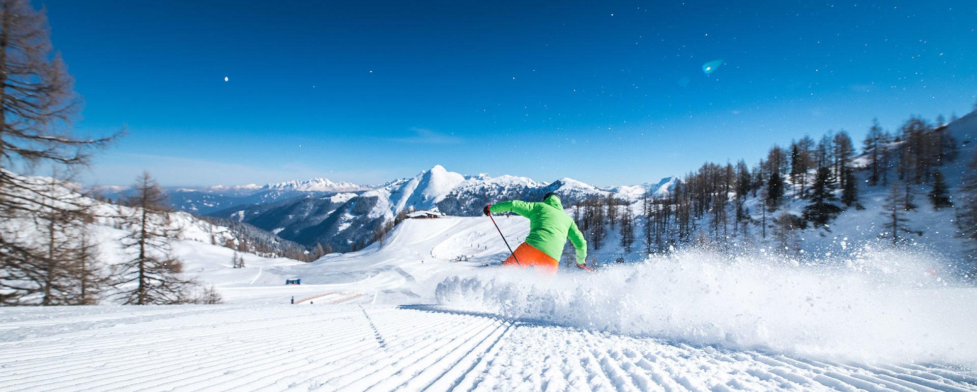 Skifahren im Skiurlaub in Zauchensee