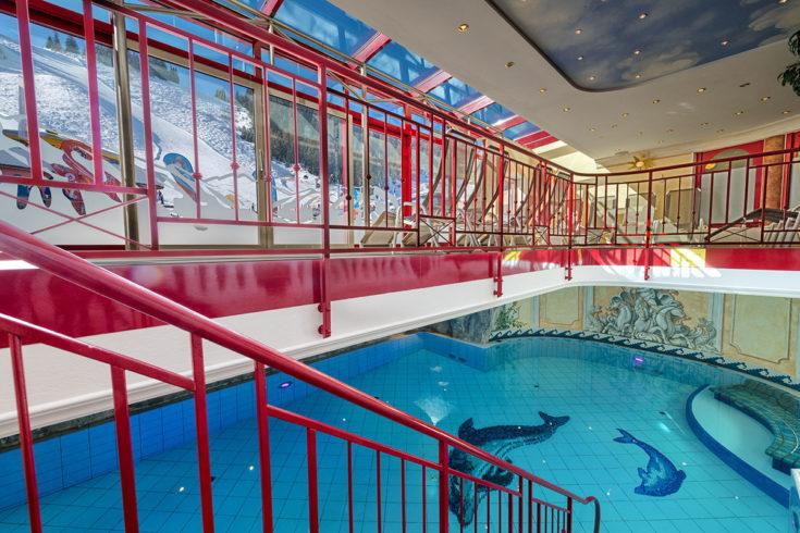 Hallenbad im Hotel in Zauchensee